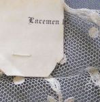The word Lacemen found on the back of a shop label.