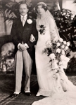 Linda Beatrice Morritt wearing the Lucile wedding dress