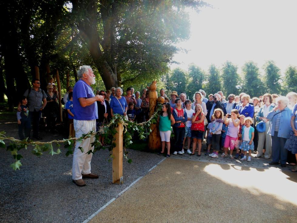 David Bellamy opening the park