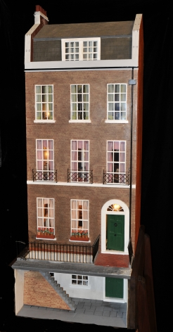 Replica Charles Dickens house kindly loaned by Margaret Watson for bi-centenary display