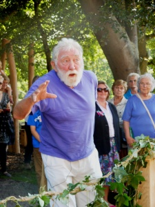 David Bellamy opening the redeveloped Museum park