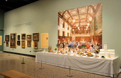 Feast Your Eyes exhibition - recreation of a Victorian supper