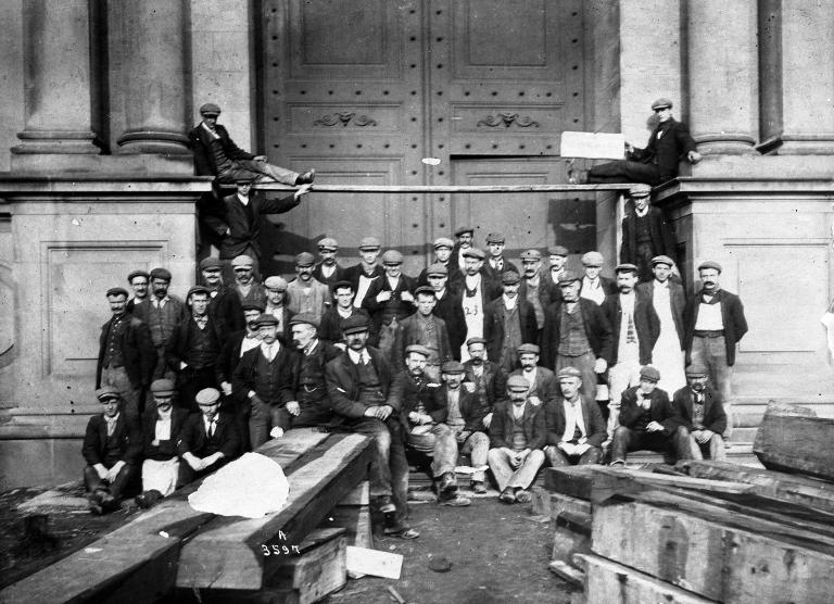 Museum workmen