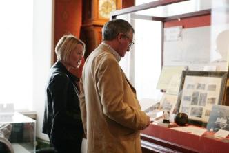 Visitors enjoying the displays