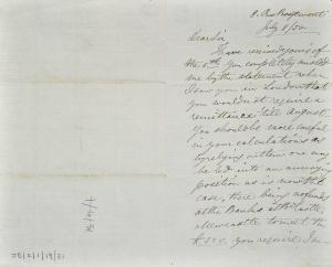 John Bowes' letter