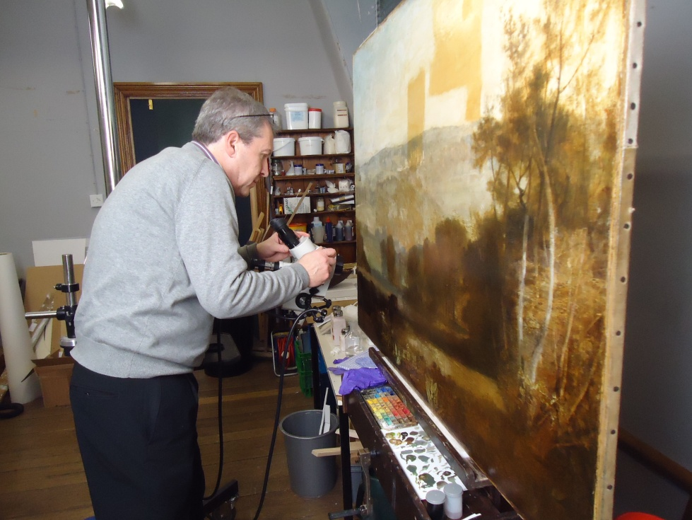 Paintings Conservator, Jon Old