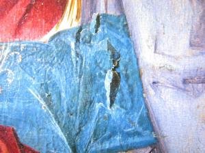 Detail of flaking paint