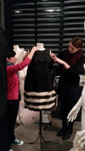 Maria & Emily dressing the mannequin