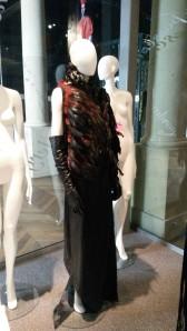 Waistcoat & leather skirt