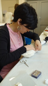 Maria Pardos, Textiles Conservation Intern