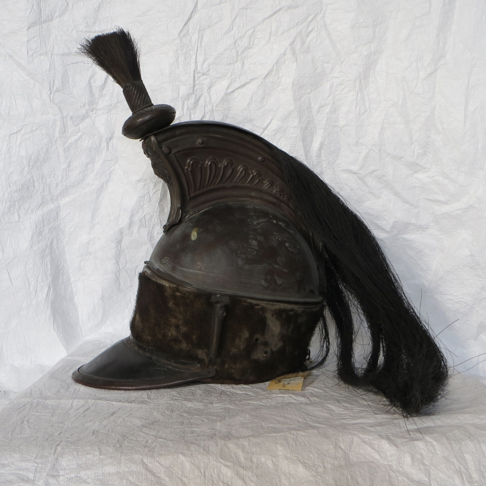 General helmet's photograph, left