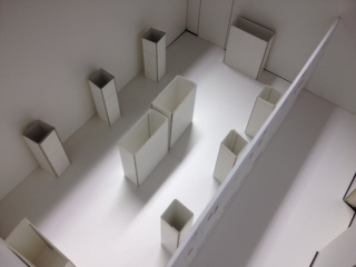 Scale model of Paul Scott exhibition room