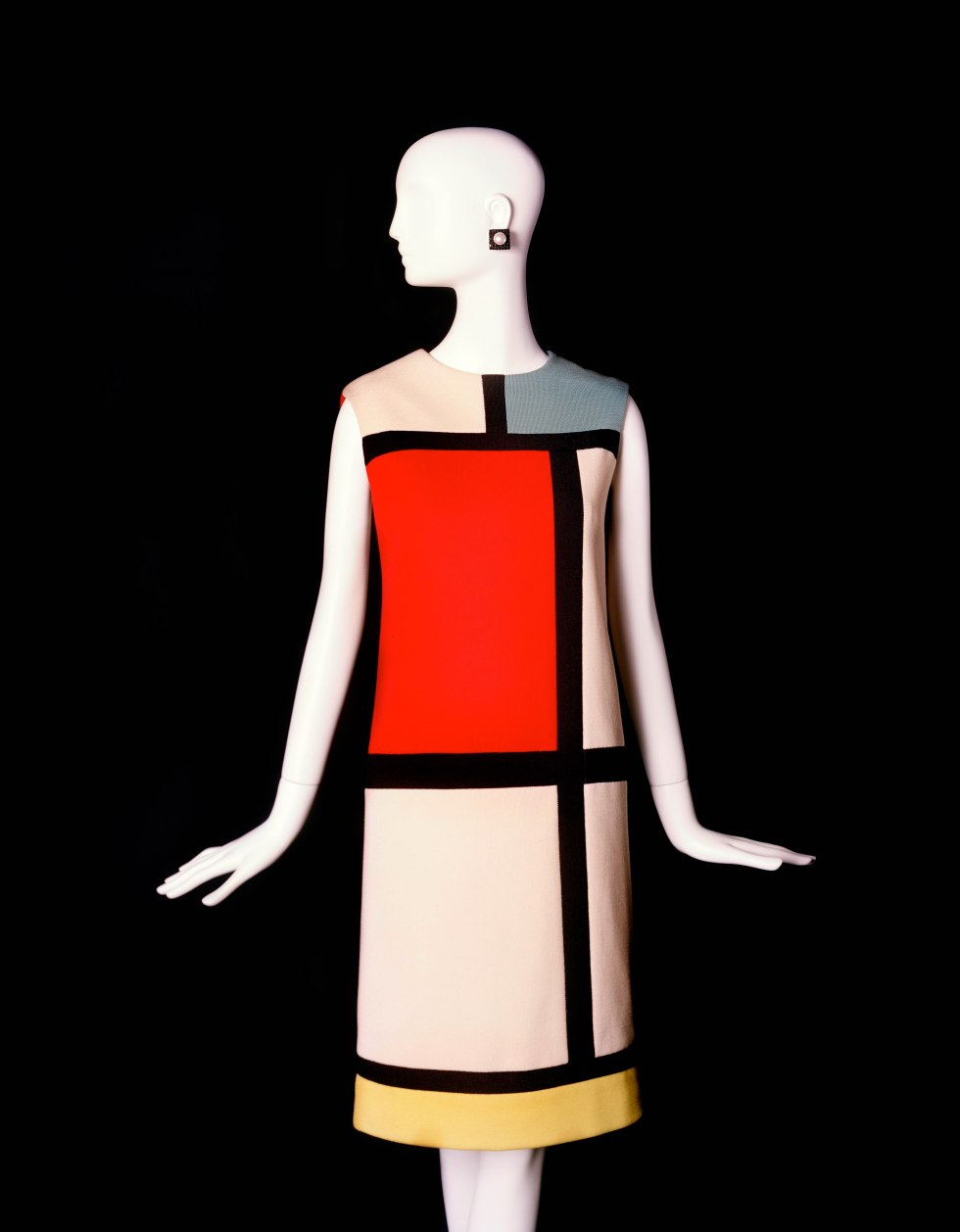 Short Cocktail Dress fall winter 1965 Tribute to Piet Mondrian