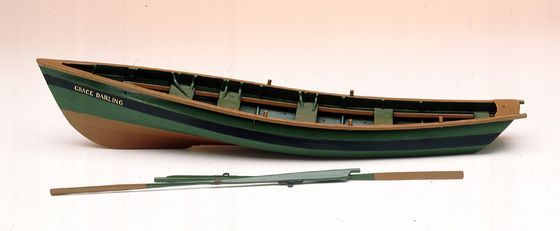 Scale model of Grace Darling's coble in the National Maritime Museum, London