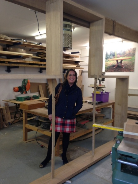 Alison, Fundraiser, showing how big the new frame is!