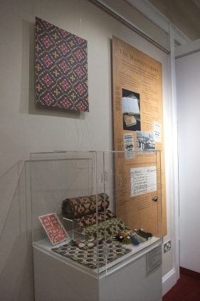 Part of the display, including replica samples of Barnard Castle carpet
