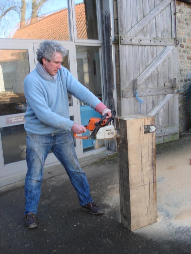 Master carver at work