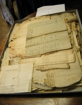 Whitby muster rolls - before conservation
