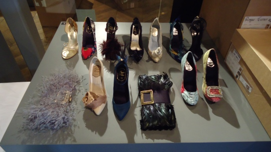 Roger Vivier shoes - de-installed from the display case, and awaiting packing
