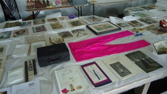 A selection of other items from the exhibition, awaiting packing