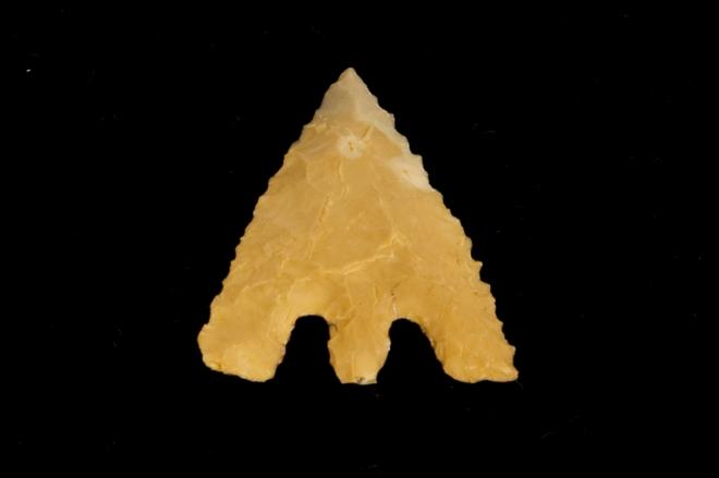 An arrowhead made from flint