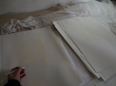 Drawing the lace