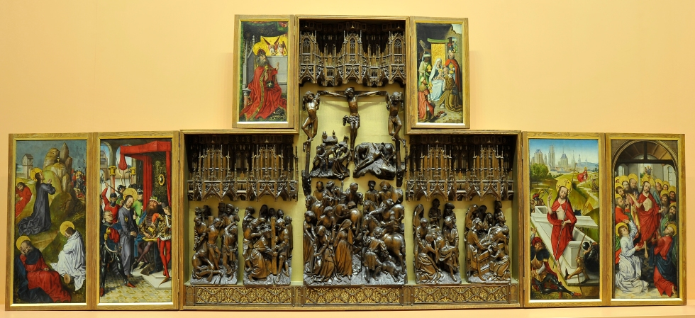 The Altarpiece before treatment