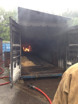 Our 'museum' burns inside a shipping container