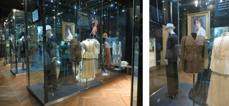 CST.1674 on peninsula case, Fashion & Textile Gallery, accompanied by YSL outfit