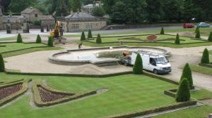 All activity on the Parterre
