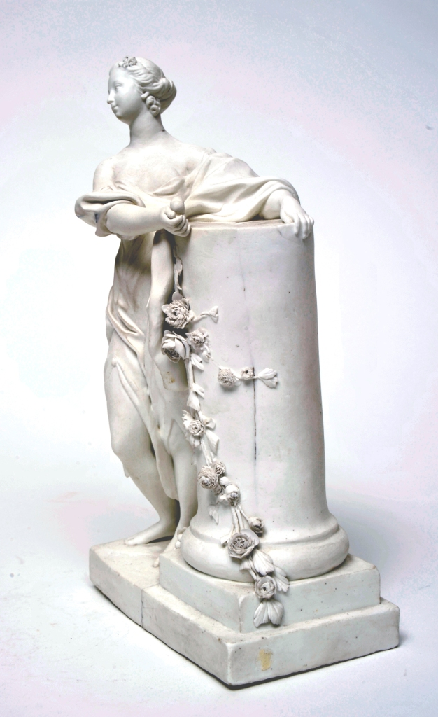 Figure of Madame de Pompadour as 'Friendship', 1755. Vincennes 'biscuit' (unfired) porcelain, 1755