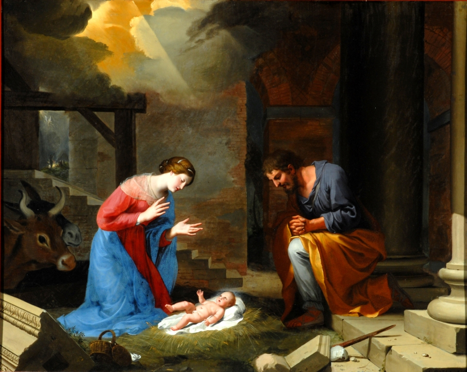 Jacques Stella, The Nativity, France, oil on copper, 1639