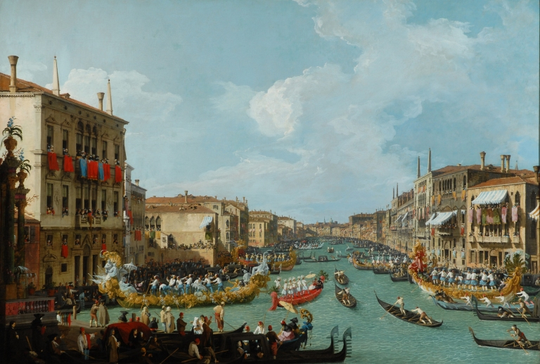 Regatta on the Grand Canal - currently on display