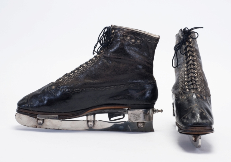 Ice skating boots, c.1862