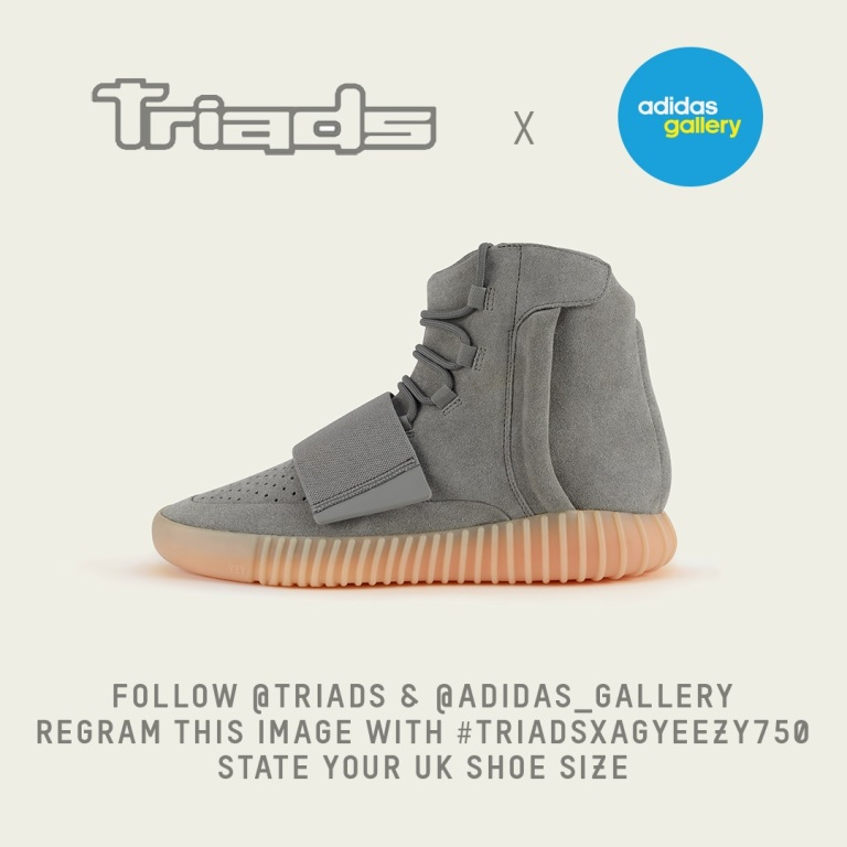 Chance to win Yeezy Boost 750