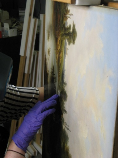 9. Me treating painting veritcally on easel