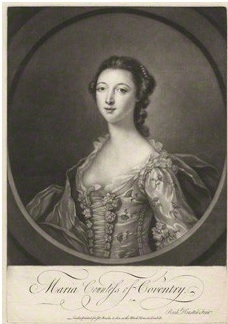 Maria, Countess of Coventry, by Richard Houston, 1750-60, National Portrait Gallery