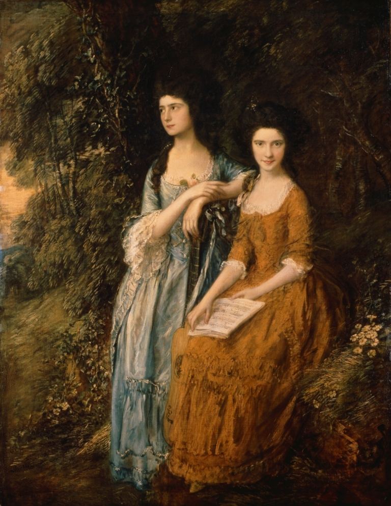 Elizabeth and Mary Linley, Thomas Gainsborough, c.1772, retouched 1785
