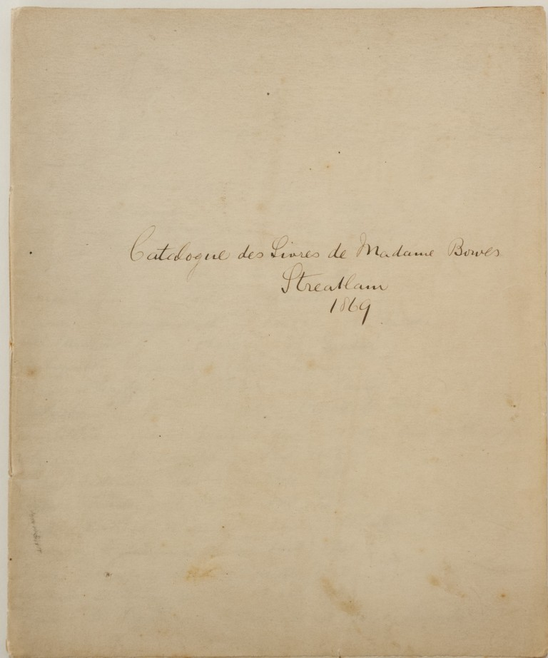 Catalogue of the books of 'Madame Bowes' at Streatlam from 1869. Lenormand's works appear here at the top of page 14