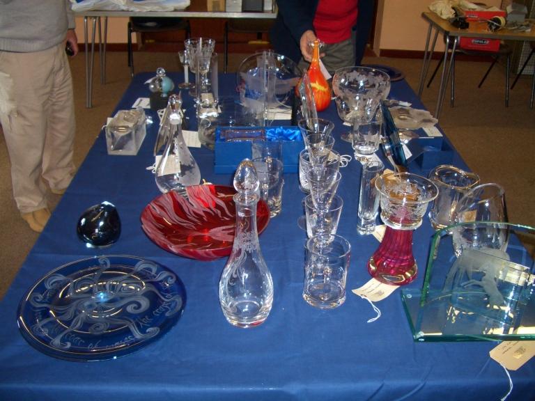 Glass Pre selection table
