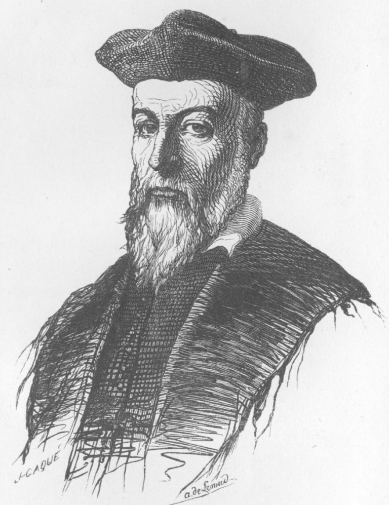 Drawing of Nostradamus by Aimé de Lemud