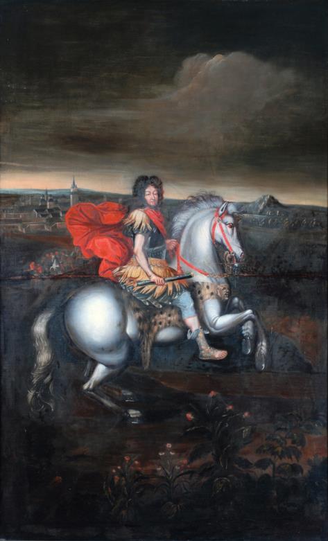 Equestrian Portrait of Louis XIV, after Pierre Mignard (1610-1695), B.M.286