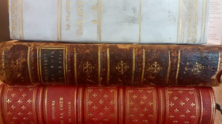 The three volumes of intrigues galantes that form part of the Bowes library.