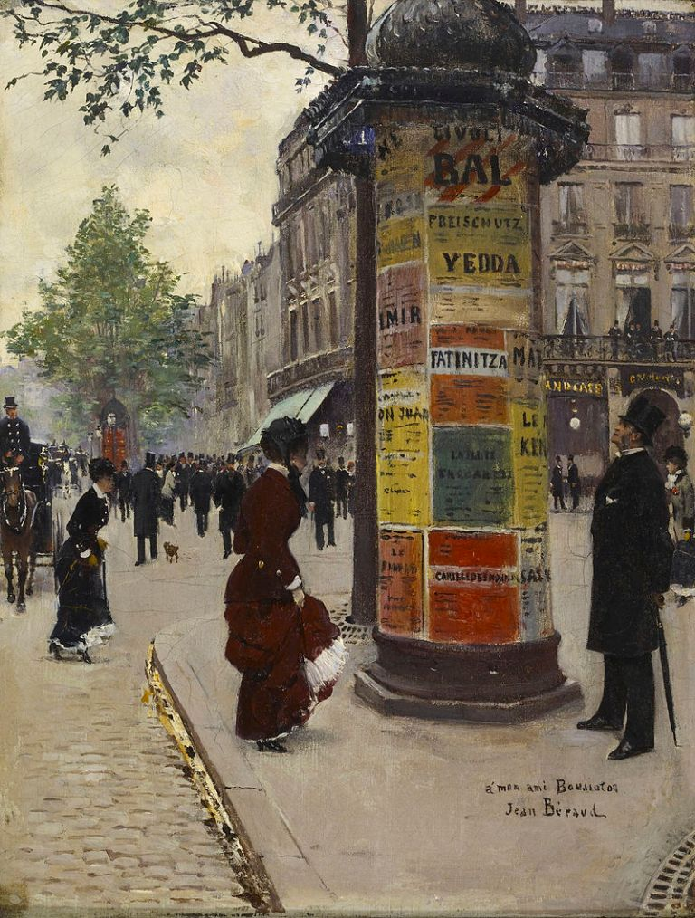 Kiosque à Paris (boulevard des Capucines) vers 1880-1884, Jean Béraud, Baltimore, Walters Art Museum.