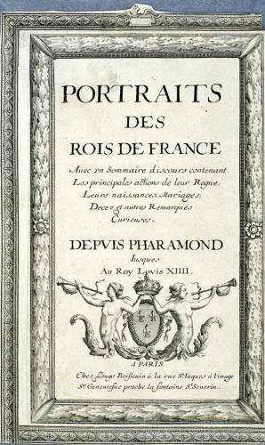 Portraits des rois de France, volume of engravings of every king of France until Louis XIV, 2003.432/P.A