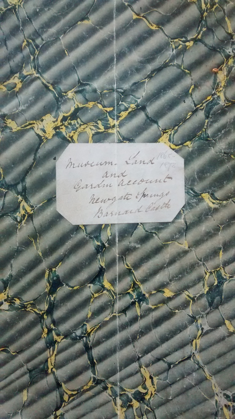 Museum Land and Garden Account Book, covering 1865-1873, containing the details of the purchase of the araucaria, JB/6/3/1.