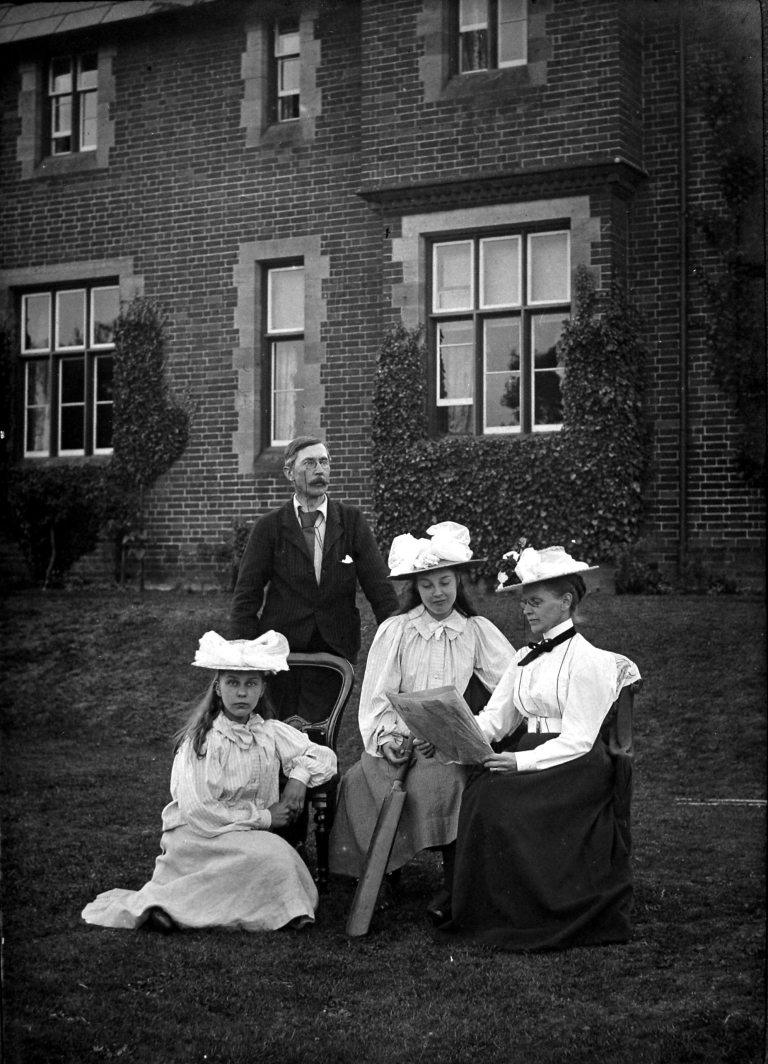 One of the many Pattison photographs in the Museum collection, understood to be a picture of the Pattison family, 1973.43.464/ARC.