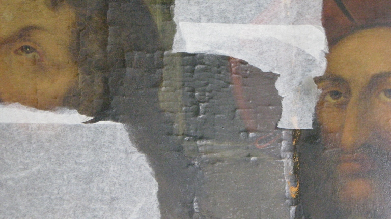 Detail showing an area of flaking paint