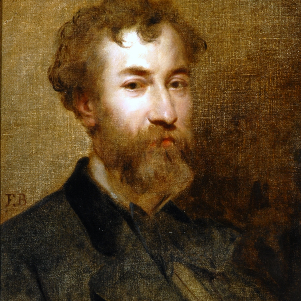 Faustin Besson, Portrait of Lorédan Larchey, Oil on Canvas. B.M.377.