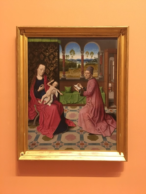 St Luke Drawing the Virgin & Child by Dieric Bouts